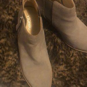 """Vionic short cut suede bootie with 3"""" heel"""